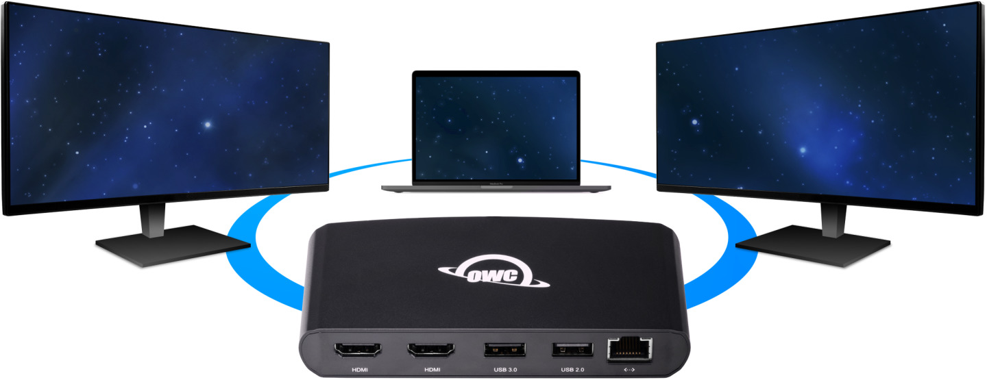 OWC Thunderbolt 3 mini Dock with dual screen support